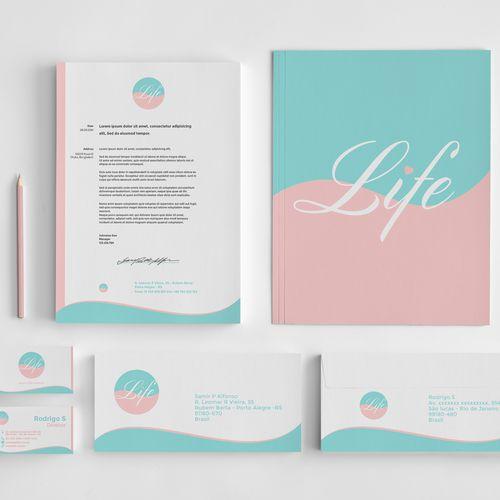 Criação de Logotipo, Design do Cartão de Visitas, Receituário e Papel Timbrado