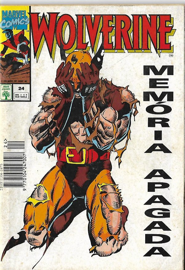 Wolverine - 24 - Memória Apagada - Formatinho - Abril Jovem