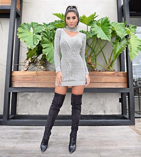 Tricot Cinza Sampa Dot Clothing