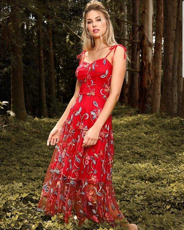 Vestido Midi Doce Maria Secret Garden