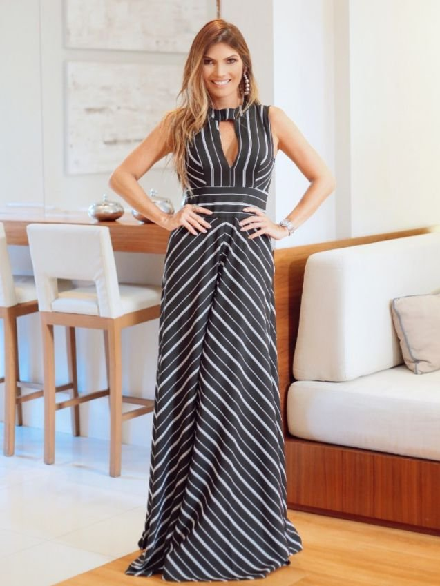 Vestido Striped Anne Fernandes
