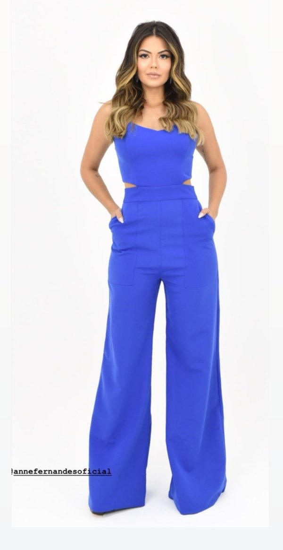 Macacão Anne Fernandes Azul