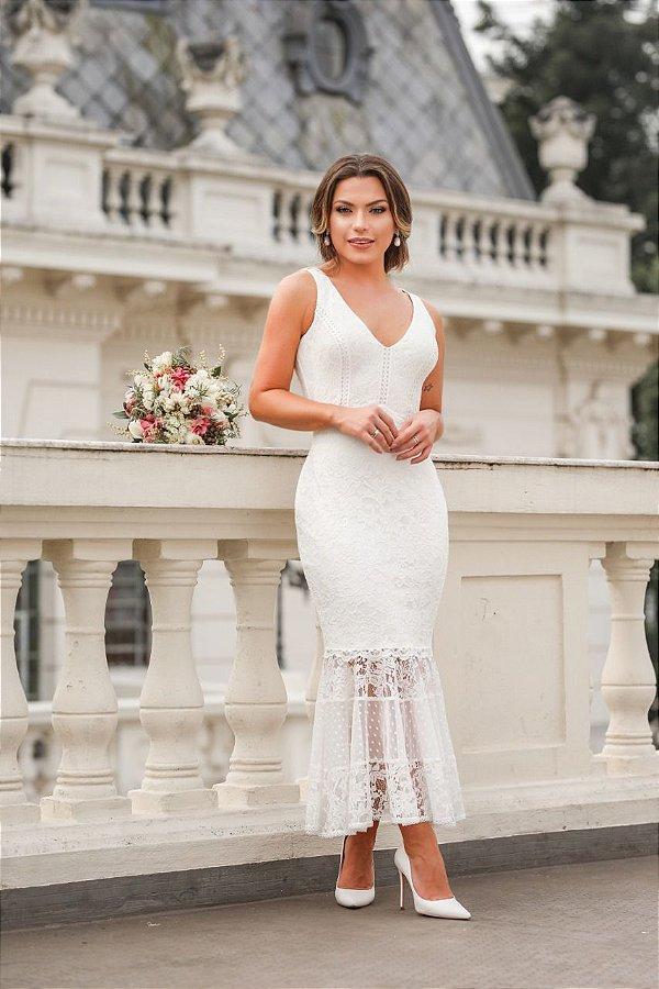 Vestido Midi Doce Maria Abrolhos
