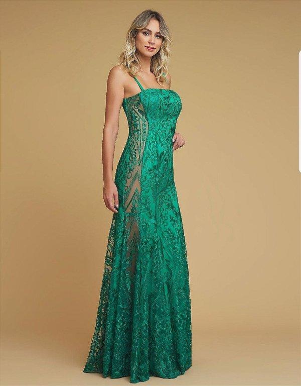 Vestido Luxo Esmeralda