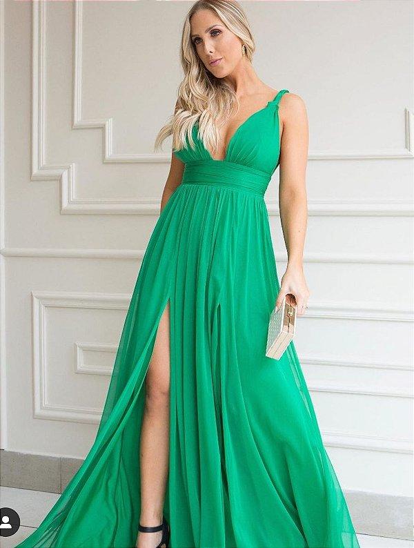 Vestido Fluído Verde