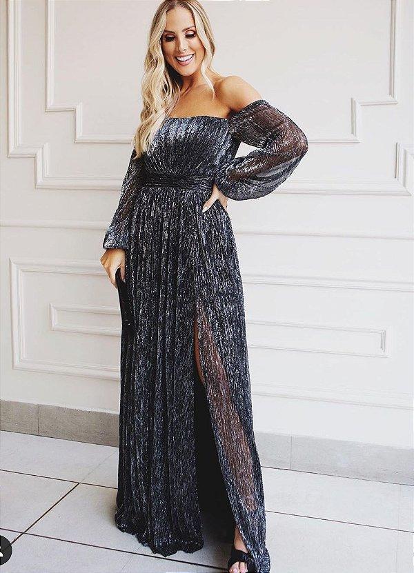 Vestido Lurex Viana Black
