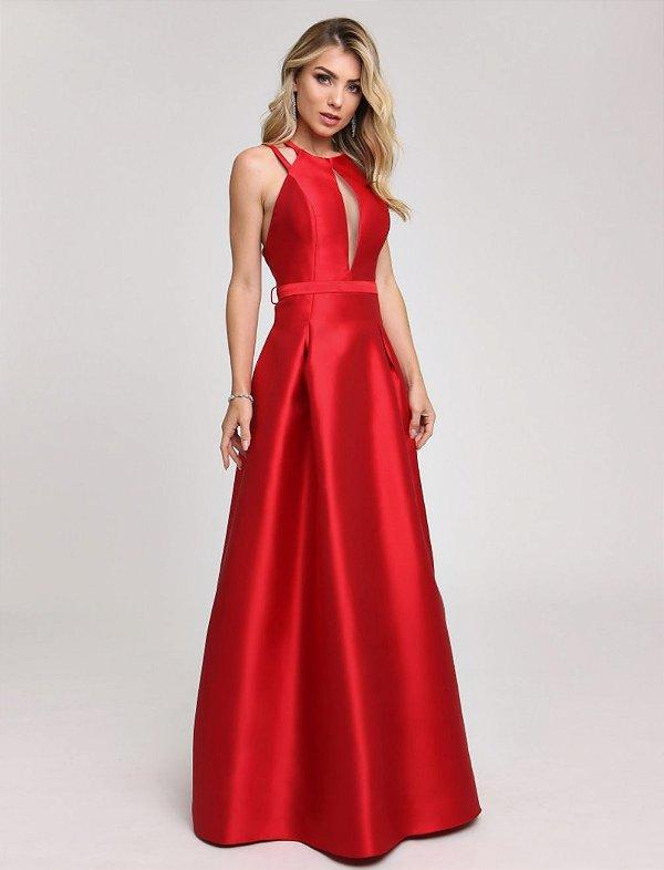 Vestido Longo Vermelho Yasmin