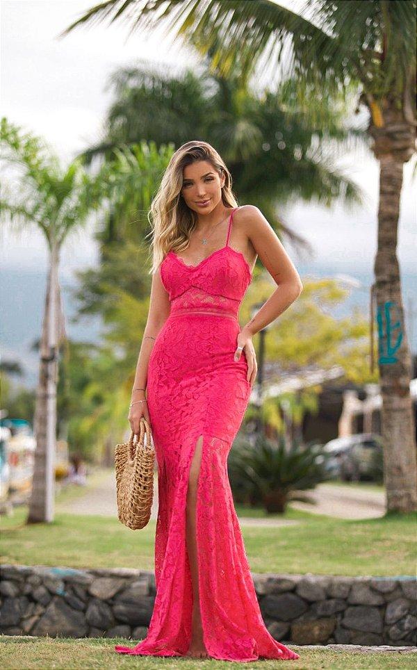Vestido Longo Pink Goiânia Doce Maria