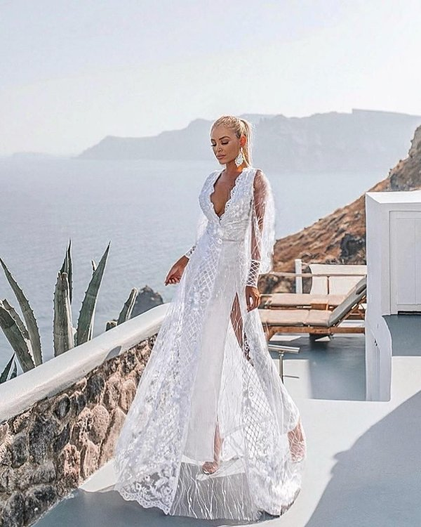 Vestido Longo Branco Resort Greece