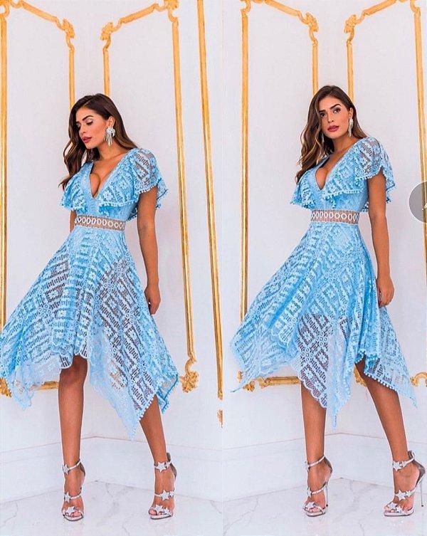 Vestido Midi Belinda Azul Serenity