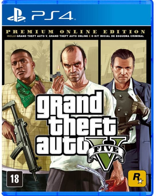 GTA 5 PREMIUM ONLINE EDITION PS4