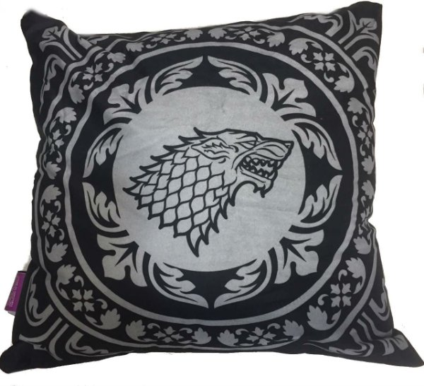 ALMOFADA VELUDO 40X40CM KING OF THE NORTH