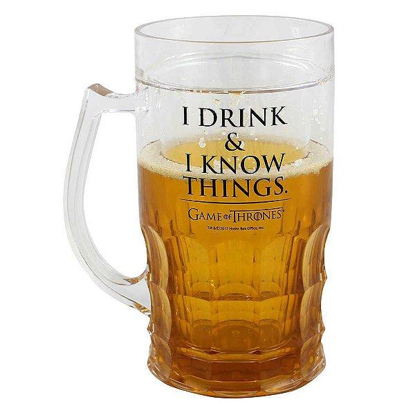 CANECA DE CHOPP 500ML I DRINK & I KNOW THINGS