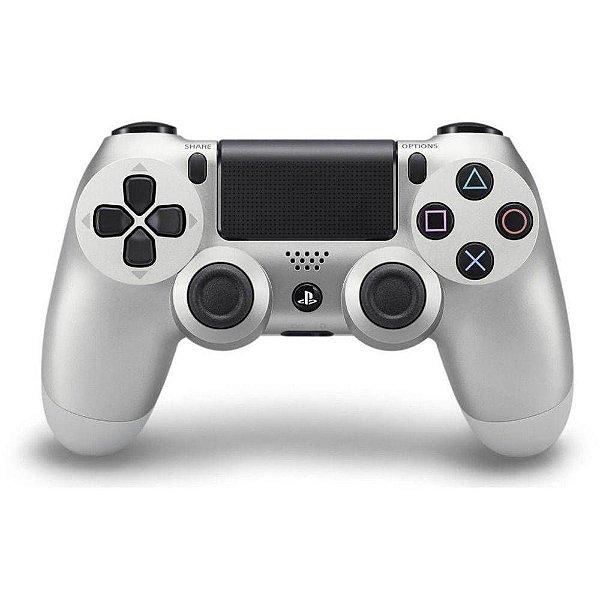 CONTROLE DUAL SHOCK PRATA PS4