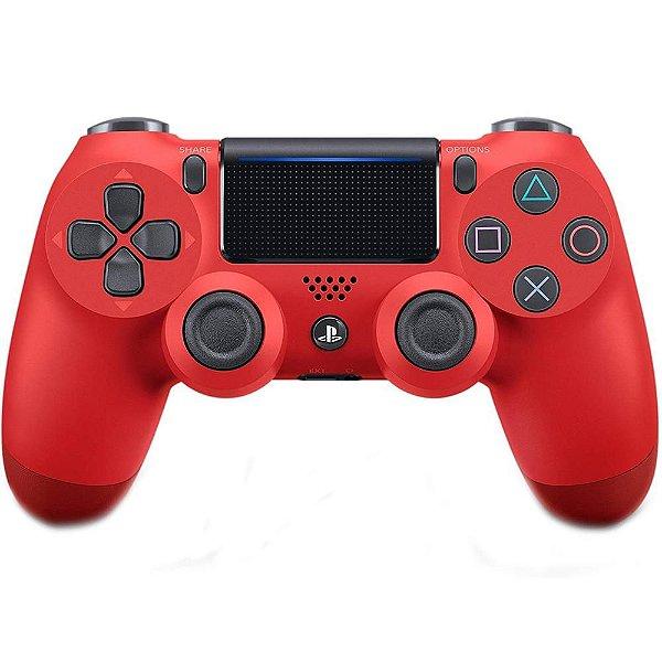 CONTROLE DUAL SHOCK VERMELHO PS4