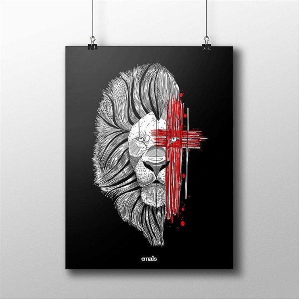 POSTER LION BLACK CRUZ