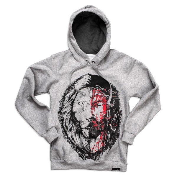 MOLETOM JESUS x LEÃO CINZA