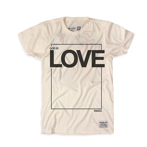 CAMISETA GOD IS LOVE OFF WHITE
