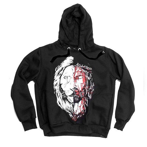 MOLETOM JESUS&LEÃO PRETO