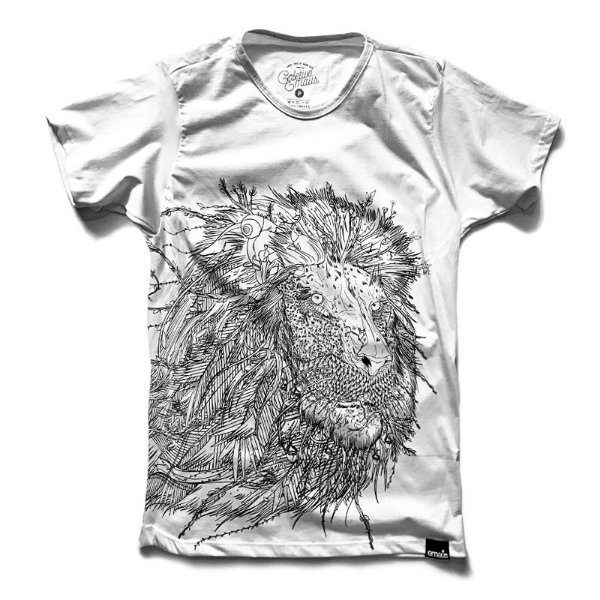 Camiseta Leão Éden Branco
