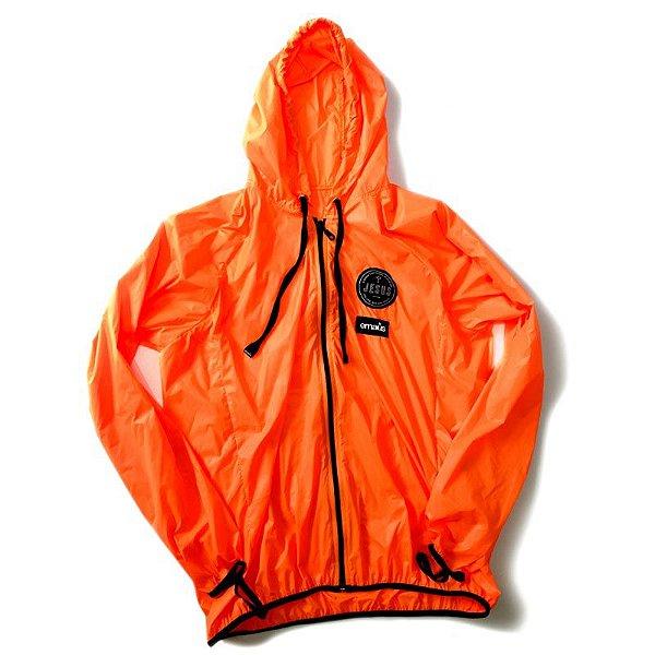 jaqueta corta vento laranja (windbrake)