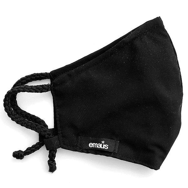 Máscara de proteção facial / 100% algodão /  Black