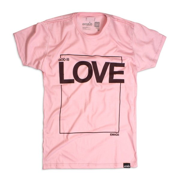 CAMISETA GOD IS LOVE ROSA