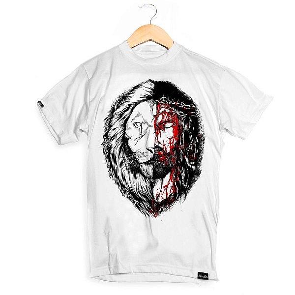 CAMISETA  JESUS & LION WHITE