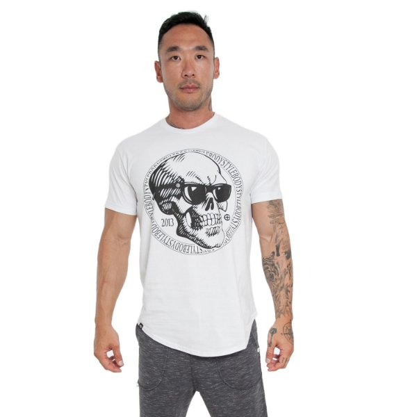 CAMISETA SKULL SUNGLASSES - BRANCO