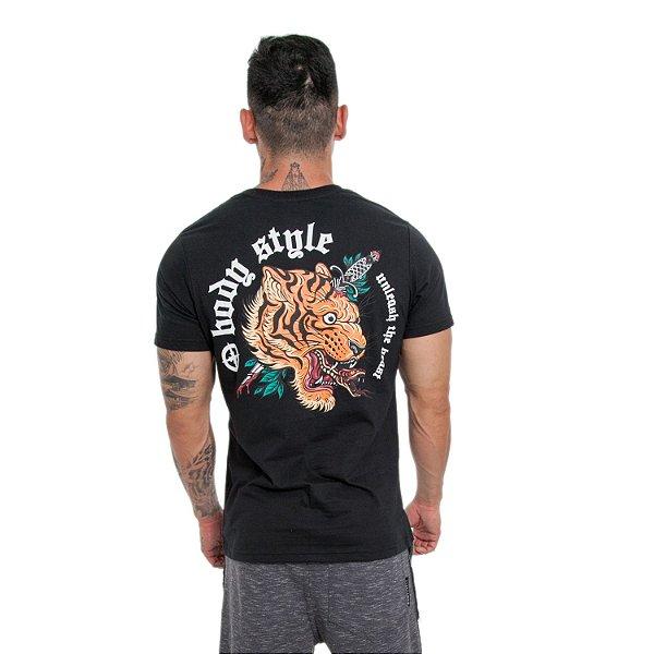 CAMISETA TIGER/LION RETA - PRETO