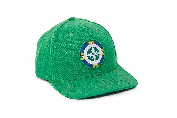 BONE ABA RETA BRASIL - VERDE