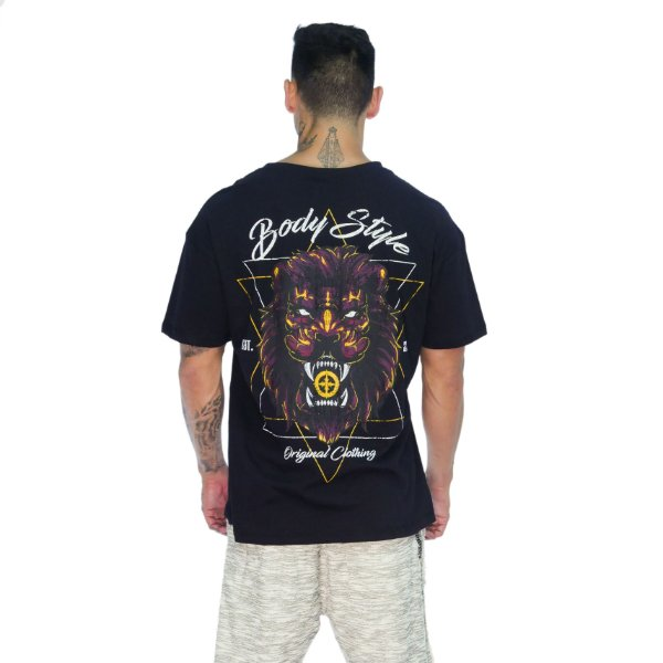 CAMISETA BOX STAR LION - PRETO