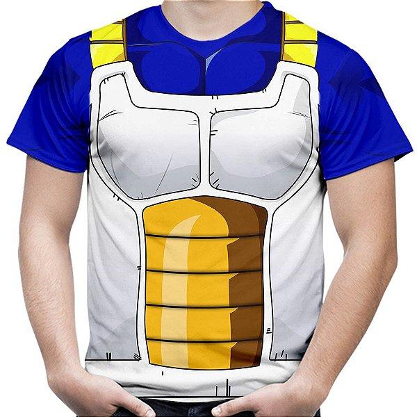 Camiseta Masculina Traje Vegeta Estampa Total