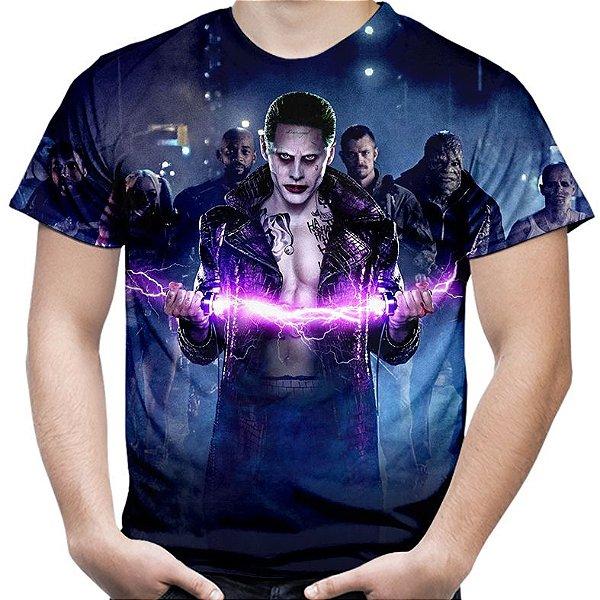 Camiseta Masculina Esquadrão Suicida Estampa Total Md04