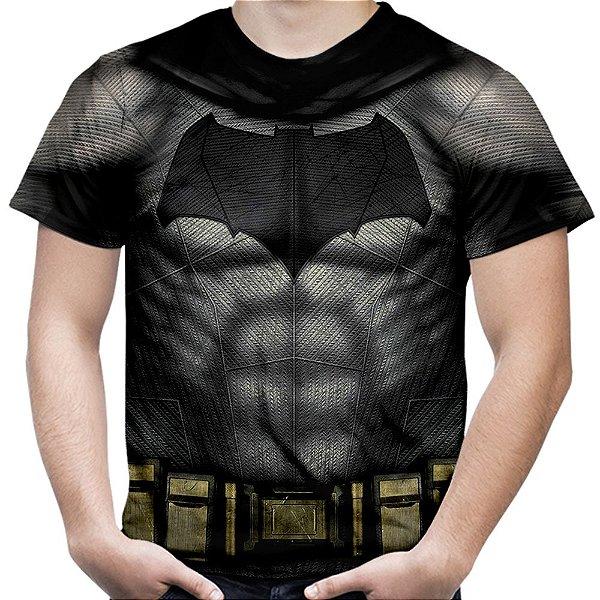 Camiseta Masculina Batman Armadura Estampa Total Md02