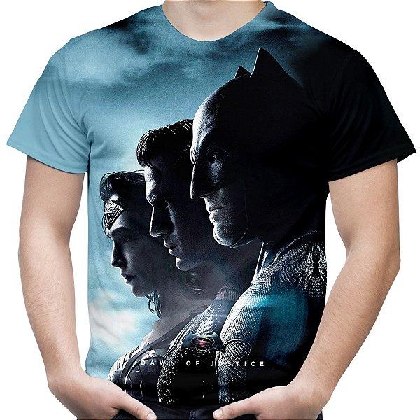 Camiseta Masculina Batman vs Superman Estampa Total Md01