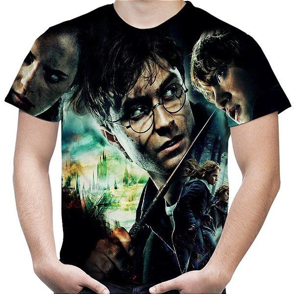 Camiseta Masculina Harry Potter Estampa Total Md01