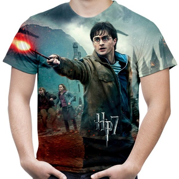 Camiseta Masculina Harry Potter Estampa Total Md02