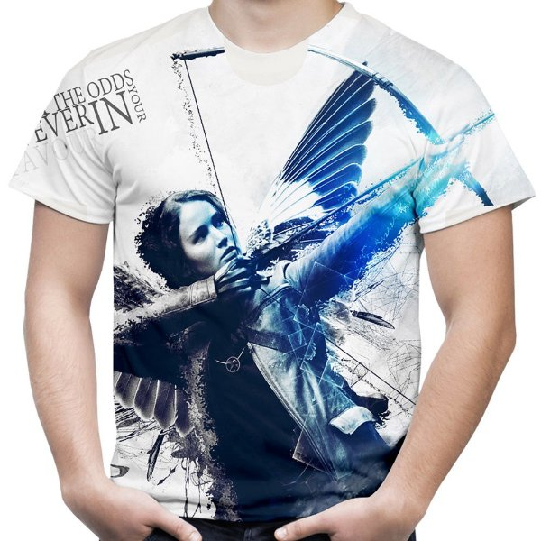 Camiseta Masculina Jogos Vorazes Estampa Total MD04