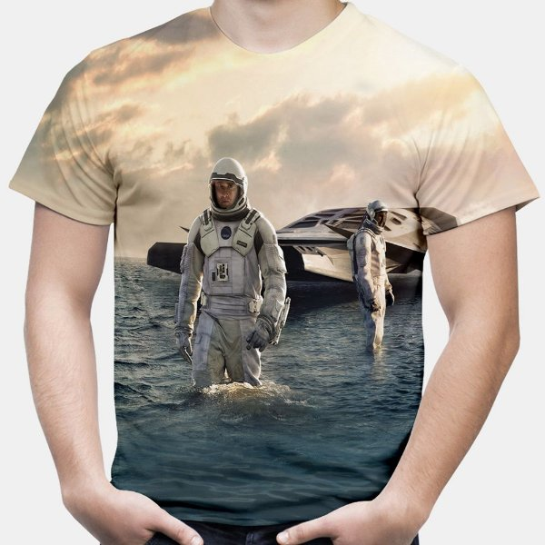 Camiseta Masculina Interestelar Estampa Total Md01
