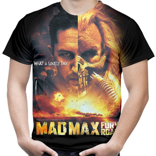 Camiseta Masculina Mad Max Estampa Total Md06