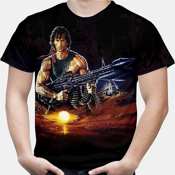 Camiseta Masculina Rambo Estampa Total