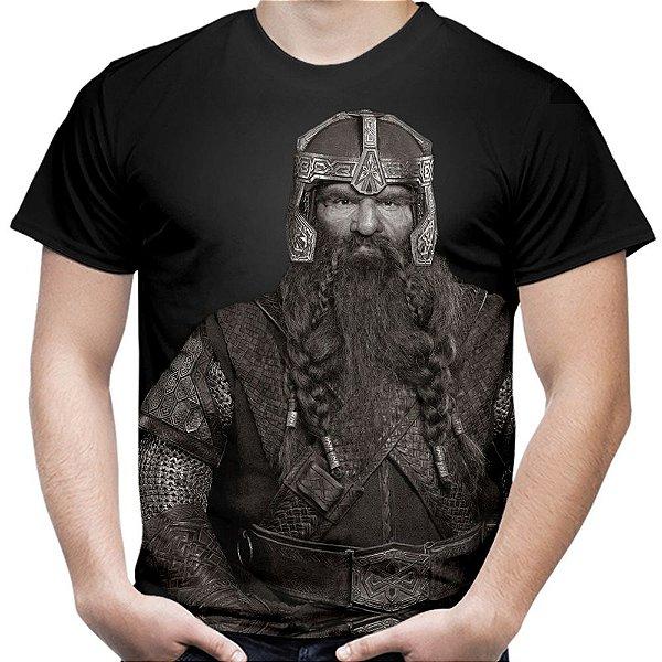 Camiseta Masculina Gimli Senhor dos Anéis Estampa Total