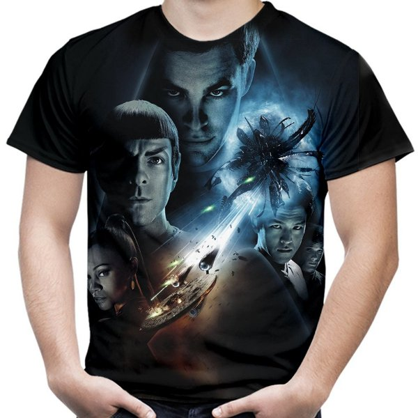 Camiseta Masculina Star Trek Estampa Total Md04