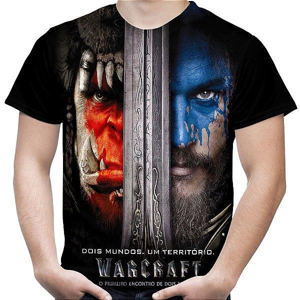 Camiseta Masculina Warcraft Estampa Total Md01