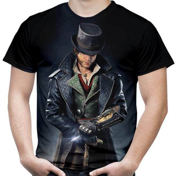 Camiseta Masculina Assassin's Creed Syndicate Estampa Total