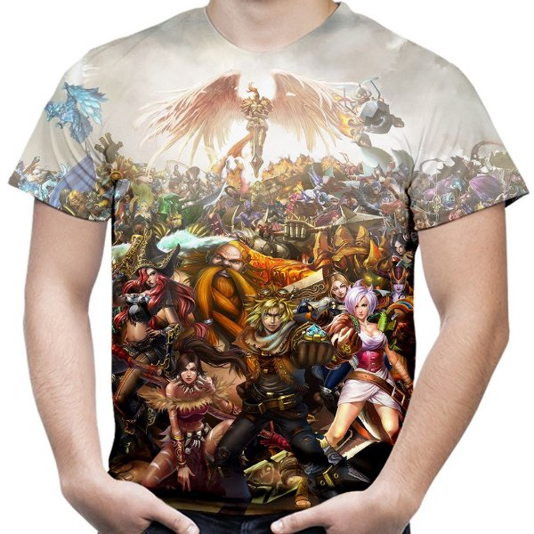Camiseta Masculina League of Legends Estampa Total Md02