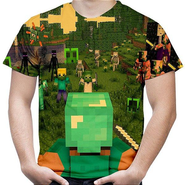 Camiseta Masculina Minecraft Estampa Total Md02