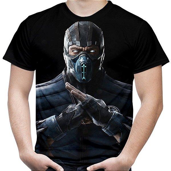 Camiseta Masculina Sub-Zero Mortal Kombat Estampa Total