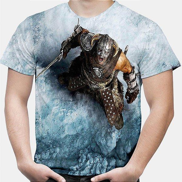 Camiseta Masculina The Elder Scrolls V Skyrim Estampa Total